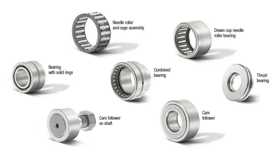 NTN needle roller bearings and cam rollers