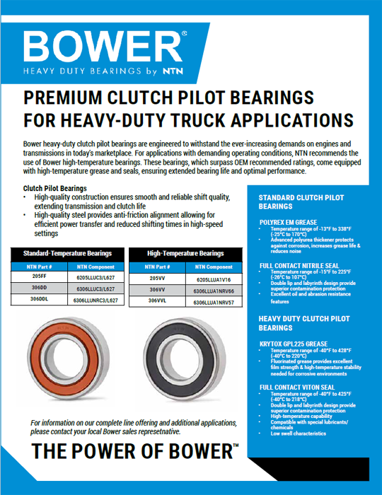 NTN Clutch pilot bearings