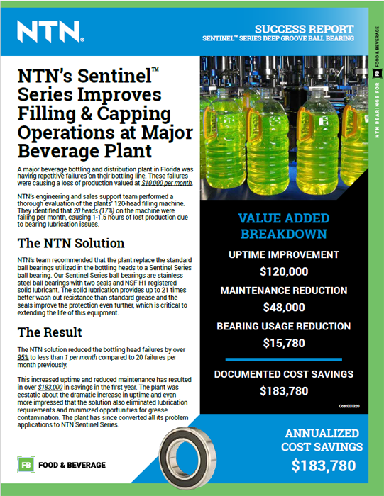 NTN success report bottling plant