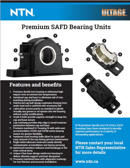 NTN Premium SAFD bearing units