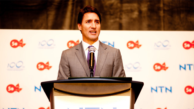 Prime Minister Justin Trudeau at NTN anniversary event