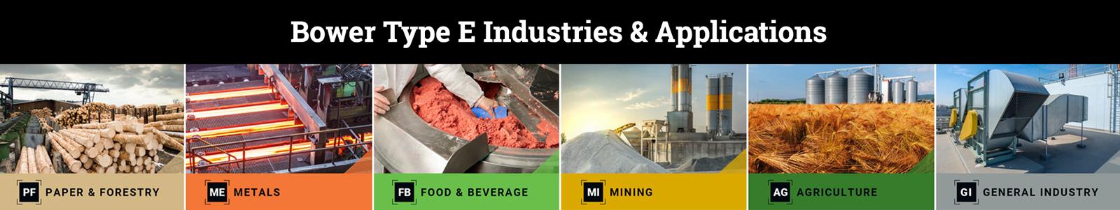 BowerTypeEIndustries Paper&Forestry,Metals,Food&Beverage,Mining,Agriculture,GeneralIndustry