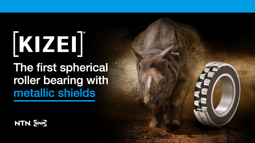 KIZEI The first spherical roller bearing with metallic shields