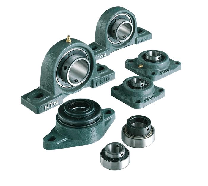 various Green Line bearings in mounts and pillow blocks
