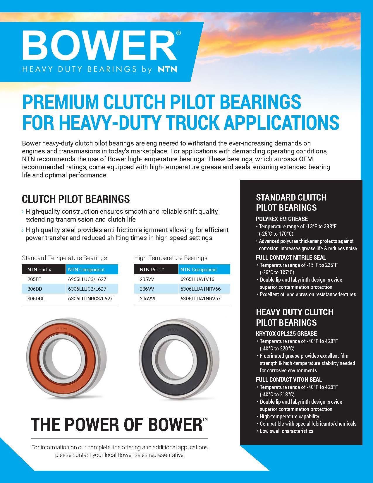 NTN Bower-Clutch Pilot Bearings