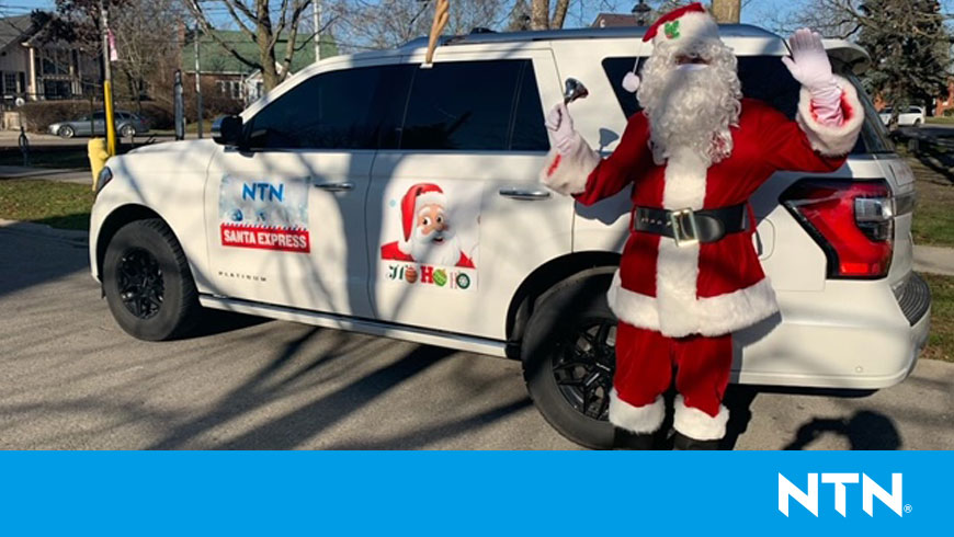 Santa with white truck