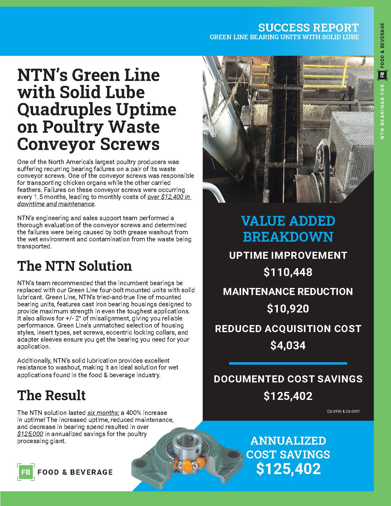 ntn green line bearing units with solid lube success report e page 1