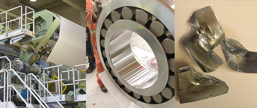 ntn extends bearing service life on thermal rolls for paper manufacturer