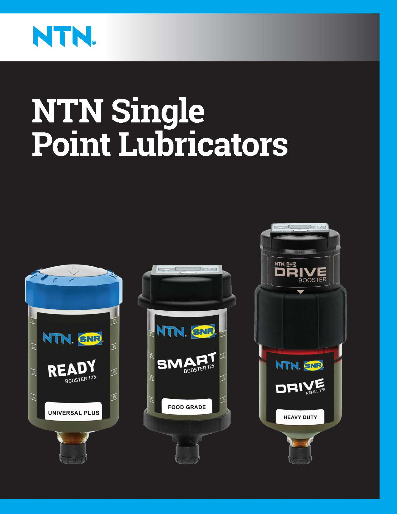 ntn single point lubricators line card page cover