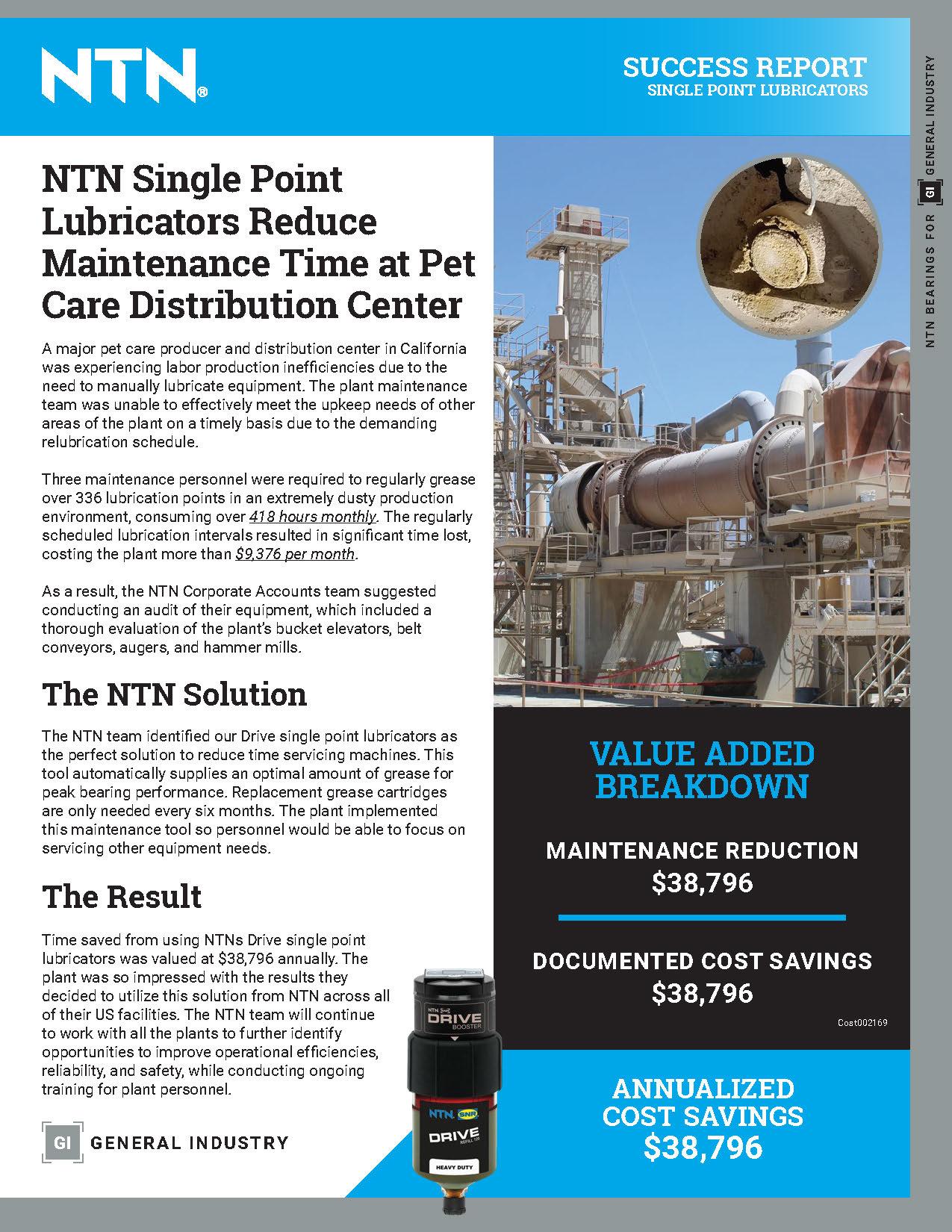 success report single point lubricators cover